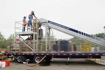 W.S. Tyler, St. Catharines, Ontario, Canada, and Kemper Equipment, Honey Brook, Penn., demonstrated Hydro-Clean Mobile Test Plant at R.E. Pierson's quarry operation in Bridgeport, N.J., on May 22.